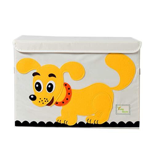 MADHEHAO Caja de Almacenamiento de Bordado de Animales 3D Cajas de Almacenamiento Plegables Cubo de Almacenamiento de Tela Utilizado para Ropa, Juguetes, Libros, 52 * 36 * 36 cm, 2