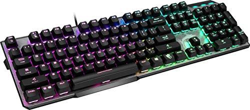 MSI Vigor GK50 Elite IT Tastiera Gaming Meccanica (Kailh Box White), LED RGB Mystic Light per singolo tasto, hotkeys per controlli rapidi, Gaming e Ufficio, Layout ITALIANO QWERTY, Nero