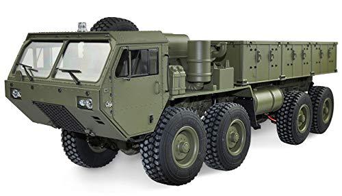 Amewi 22389 Verde U.S. Camion militare 8x8 1:12 con superficie di carico Military