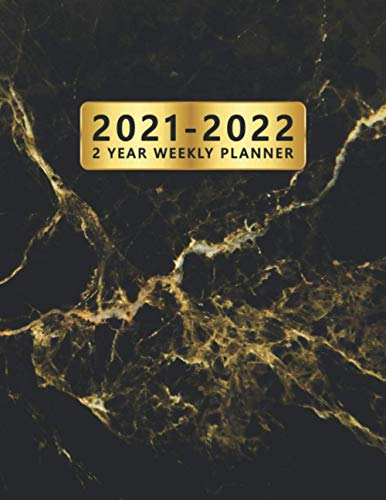 Compare Textbook Prices for 2021-2022 2 Year Weekly Planner: Two Year 24 Months Organizer & Agenda with Weekly Spread View - 2-Year Schedule Calendar & Diary with To-Do's, ... & More - Fantastic Gold Veined Black Marble  ISBN 9798690614256 by Planners, Simple