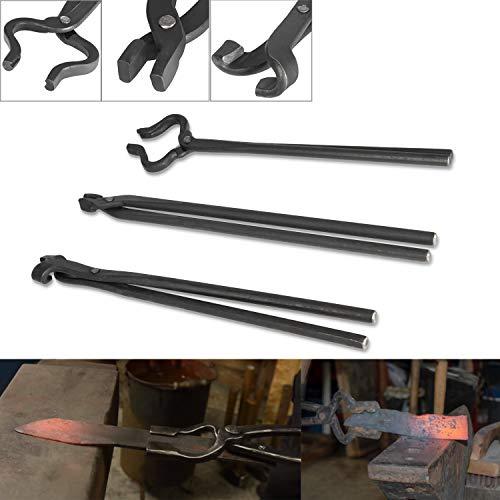 Knife Making Tongs Set 3Pcs Blacksmith Tongs...