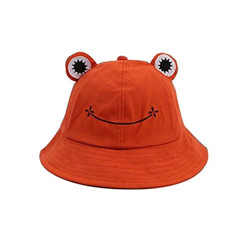 Generic Branded Summer Cute Frog Bucket Hat, Faltbarer Fisherman Cap Hat für Erwachsene Kinder