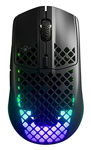 SteelSeries Aerox 3 Wireless - Souris de Gaming sans Fil ultra-Légère - Capteur Optique à Air TrueMove CPI 18 000 - Autonomie de la Batterie de 200 Heures - Noir