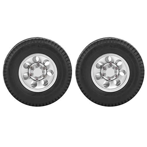 2 Stück RC Reifen RC Anhänger Hinterräder RC Offroad Autoreifen 1/14 Traktor LKW Reifen RC Kletteranhänger Teile