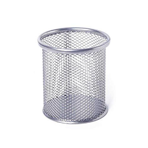N\C Soporte para bolígrafos de hierro a prueba de óxido, soporte para bolígrafos de metal, soporte de almacenamiento de escritorio, taza de lápiz organizativa (4 piezas)