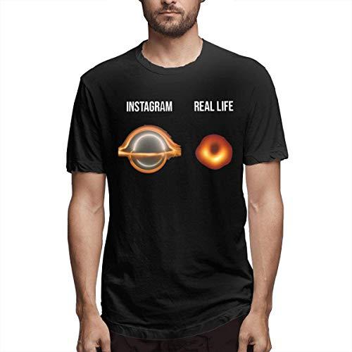 Kingloo Camiseta Divertida Personalizada Instagram VS Real Life Men
