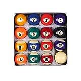 ZZALLL 16 Piezas 25mm Resina Mini Bola de Billar Juguete para niños pequeñas Bolas de Billar Juego Completo