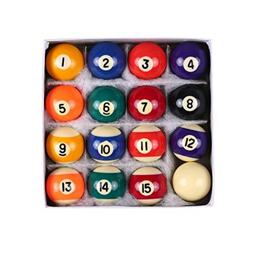 Sayletre 16Pcs Mini Billardkugel kleines Spielzeug für Kinder Resin Cue Bälle kompletter Satz von 25 mm