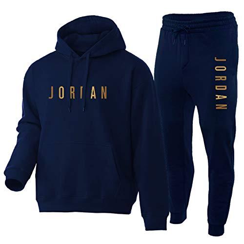 OKMJ Michael Jordan Sudadera con capucha para hombre, para correr, fitness, baloncesto, con capucha, tallas S-XXXL azul XL