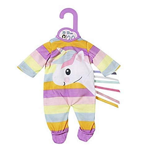 Zapf Creation 870648 Dolly Moda Unicorn Strampler Puppenkleidung 28-33 cm