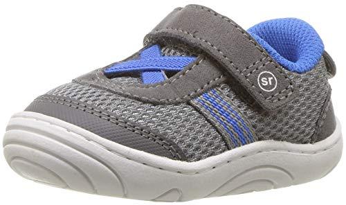 Stride Rite Boys' SR-Jackson Sneaker, grey/blue, 3 M US Infant