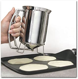 Handy Gourmet Pancake Batter Dispenser Stainless Steel Perfect Cupcakes Waffles Breakfast New