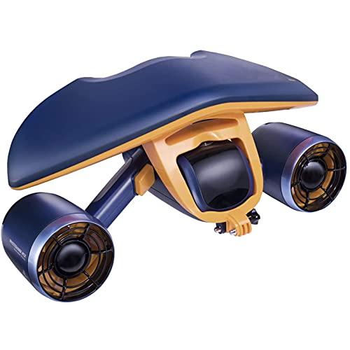 Scooter Submarino con Cámara Deportiva Instalada Dual Motor 40M Impermeable, Adecuado para Deportes Acuáticos Piscina, Buceo, Snorkel Y Aventura Marina,B