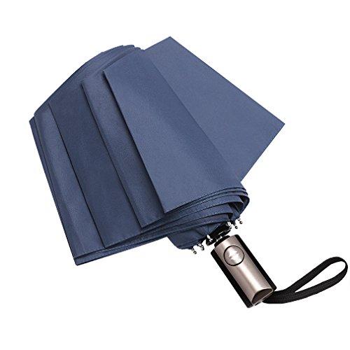 折り畳み傘 ワンタッチ 自動開閉 晴雨兼用 耐風 撥水 軽量 アルミニウム合金傘骨 Devolb (ブルー)