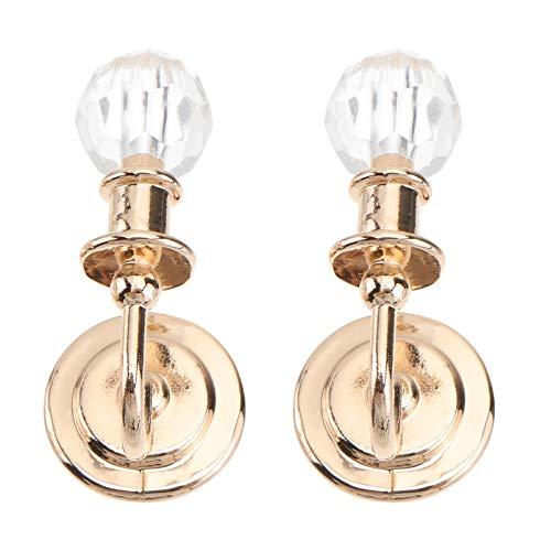 OSALADI - 2 luces en miniatura para casa de muñecas 1:12 LED, lámpara de pared, lámpara de batería, luces para miniatura, vida jugando escena modelo
