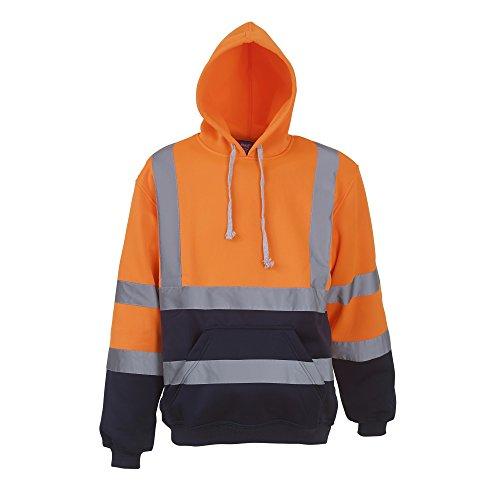 YOKO - Sweatshirt à Capuche Haute visibilité - Homme (Lot de 2) (XL) (Orange/Bleu Marine)