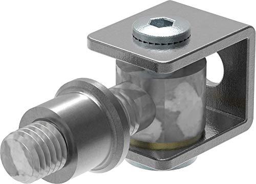 Torband M12 / Halterung verstellbar zum Anschweißen   Stahl S235JR, roh, M12