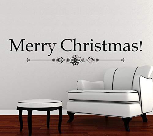 Cooldeerydm Frohe Kerstmis sneeuwvlokken muursticker vinyl afneembaar festival kerstbord raamsticker glazen deur decoratie auto wand EA733-light_grey_93x20 cm