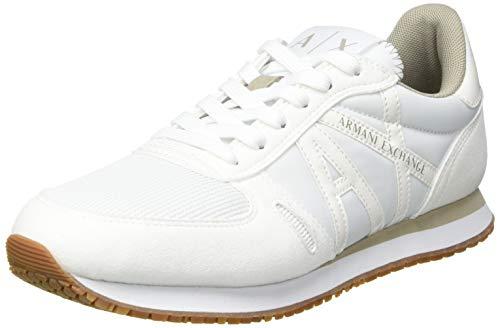 Armani Exchange Womens Rio Sneaker, White,39 EU
