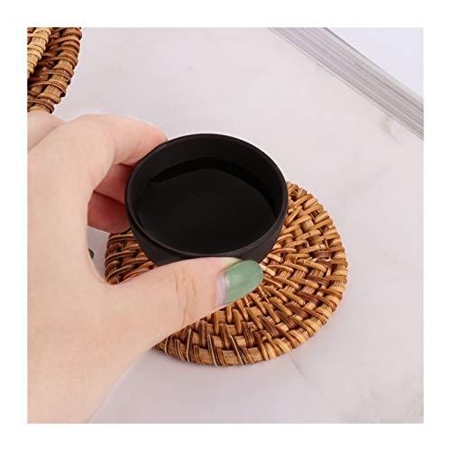 LUOSI 1 Stück Runde Natürliche Rattan-Untersetzer Bowl Pad Handgemachte Isolierung Tischsets Tabelle Polsterung Tasse Matten Küchendekoration Zubehör (Color : 20cm)