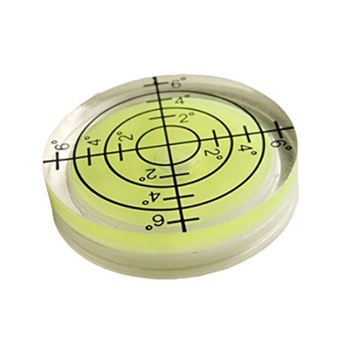 Nivel de burbuja redondo para instrumentos de medición, 32 x 7 mm, color blanco, verde