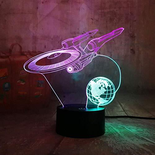 Star Trek Raumschiff Mixed Dual Color RGB 3D LED Nachtlicht Star Wars Tischlampe Geschenk Raum Wohnkultur Kinder Geschenk