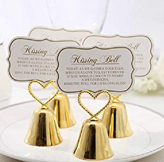 cute rabbit Gold Bells Place Card/Photo Holder Wedding Party (100)
