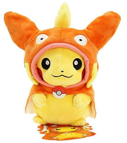 Peluche a forma di personaggi in Pikachu Pokemon Center-costume di Magicarpe& nero/bianco-XY nuova rara, 23 cm