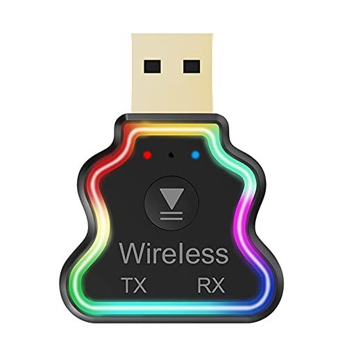 #N/A/a Transmisor Y Receptor Portátil de Baja Latencia M10 USB Bluetooth 5.0 para