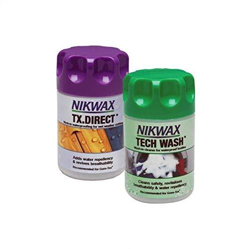 Nikwax Tech Tx Direkt Wash-in Twin Pack-Mini, Clear, Unisex