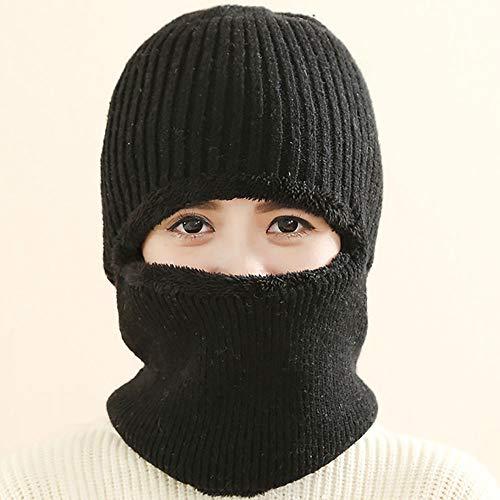 gengyouyuan Gebreide muts en oorbescherming Vrouwen winter biker plus fleece hoed