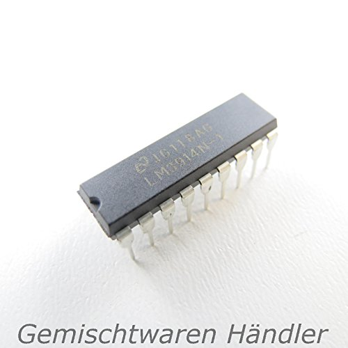 LM3914 N-1 Dot oder 10 LED Bargraph Anzeige LED-Treiber DIP18 10-LED-Bargraph