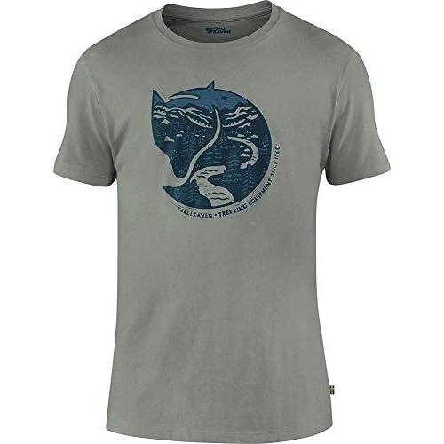 Fjällräven Arctic Fox T-Shirt M Camicia, Chalk White, XL Uomo