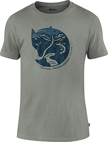 Fjällräven Herren Arctic Fox T-Shirt M Hemd, Kreideweiß, L