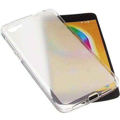 foto-kontor Funda para Alcatel A5 LED Protectora de Goma TPU para móvil Transparente Blanca