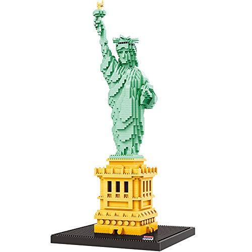 Arquitectura Estatua de la Libertad Modelo 3D 2510 pcs DIY Diamond Mini Building Nano Bricks Bloques Juguetes de ensamblaje