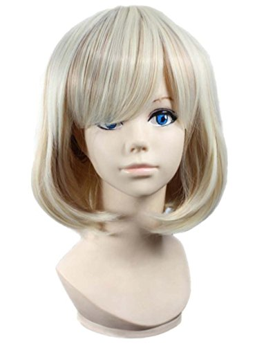 etruke court blond Harajuku Party Girl Halloween Cosplay Perruques