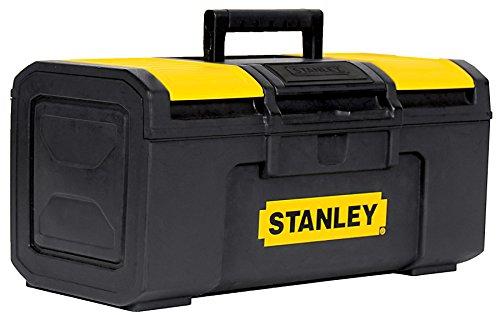 Stanley 286811 Caja de herramientas de pestillo de plástico, 16 pulgadas