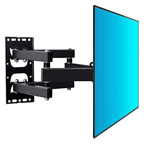 Soporte para TV, robusto soporte de pared para TV, soporte para TV de bajo perfil inclinable y giratorio para montaje en pared, máx. 400x400 mm para pantallas planas de plasma LCD LED de 32 a 49 pulga