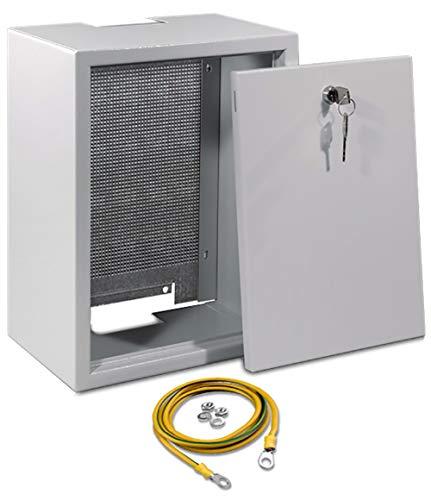 SKT, QAS4045, Armario Electrico para Instalación de Antena Señal 40 x 40 x 20 cm con Placa Perforada de Metal