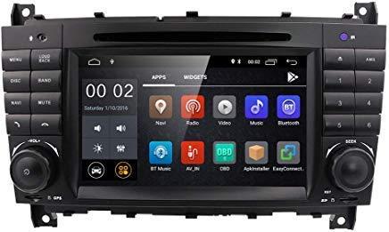 7 inch Dash Android 10 Car Stereo DVD Player 2 Din Head Unit GPS Navigation for Mercedes Benz C-Class W203 CLC Class CLC W203 CLK Class W209 Support GPS Sat Nav, DAB+, BT, RDS Radio, SWC, 4G WiFi
