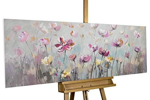 KunstLoft® Acryl Gemälde 'Blütentraum' 150x50cm handgemalt Leinwand Bild