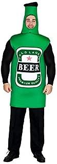 flatwhite Adult Men's Beer Bottle Costume One Size Green