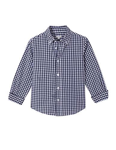 Gocco Camisa Cuadro Vichy, Azul (Marino A4), 128 (Tamaño del Fabricante:7-8) para Niños