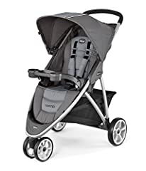 Lightweight aluminum frame and sleek 3-wheel design One-hand, free-standing fold Accepts all KeyFit infant car seats with easy click-in attachment Multi-position reclining seat and adjustable canopy Child tray with two cup holders. Parent tray with t...