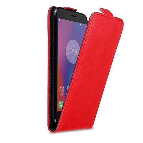 Cadorabo Hülle für Lenovo K6 / K6 Power in Apfel ROT - Handyhülle im Flip Design mit Magnetverschluss - Hülle Cover Schutzhülle Etui Tasche Book Klapp Style