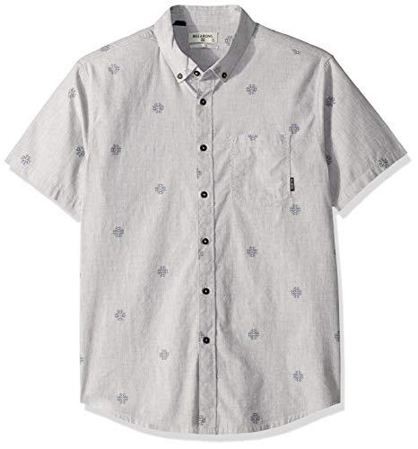 BILLABONG Herren Sundays Mini Short Sleeve Woven Shirt Button Down Hemd, Grau, XX-Large