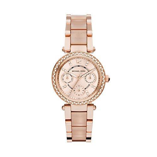 Michael Kors Damen Analog Quarz Uhr mit Edelstahl Armband MK6110