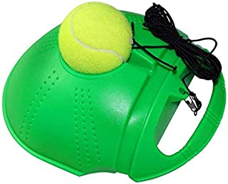 Autrix Tennis Trainer Tennis Ball Trainer Tennis Equipment Sport Exercise Tennis Base with A Rope Self-Study Tennis Rebound Player with Trainer Baseboard Training Ball (Green)