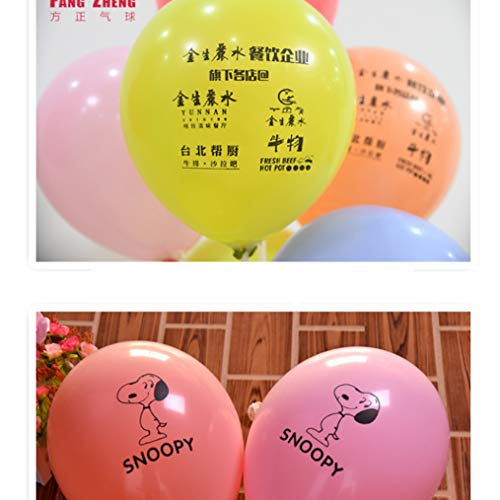GE&YOBBY Globos Personalizados,1000 Globos De Impresión De Logotipos 1.9g 2.3g 2.8g Globos para Publicidad Actividades De La Compañía Restaurante -c